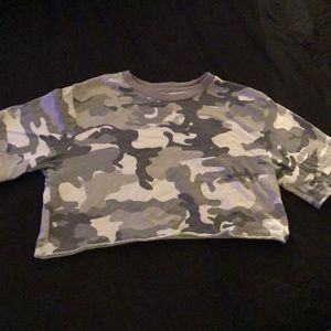 Gray Camo crop top